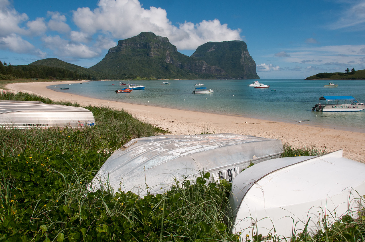 Boats at North Bay of Lord Howe Island