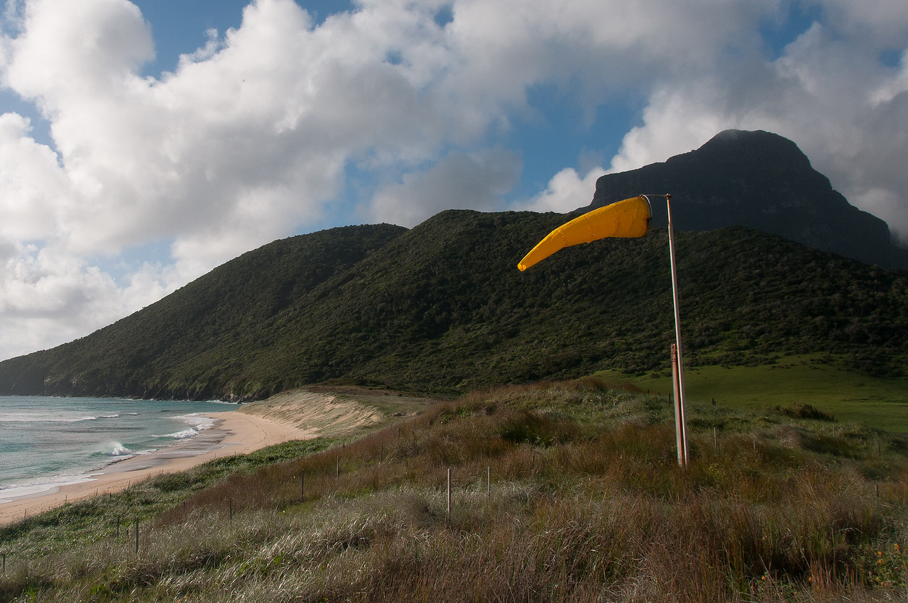 Beach and mountains in Lord Howe Island