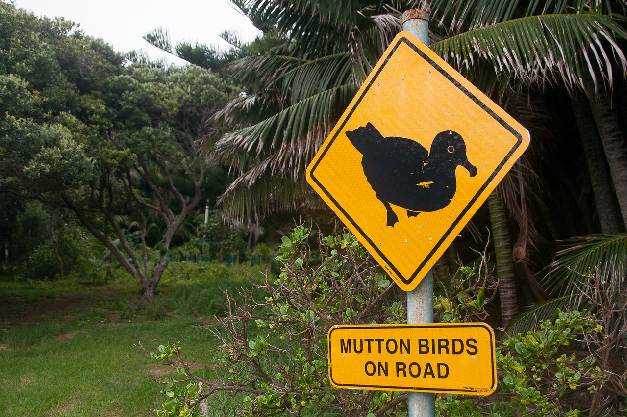 Road sign in Lord Howe Island