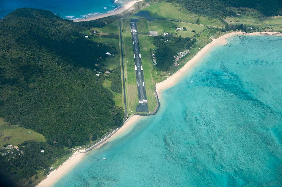 Runway on Lord Howe Island, Australia