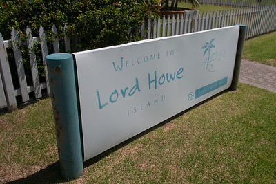 Welcome sign at Lord Howe Island