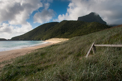 View of the beach in Lord Howe Island