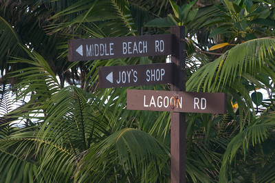Road signs in Lord Howe Island