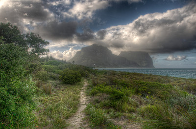 Pathwalk near the beach in Lord Howe Island
