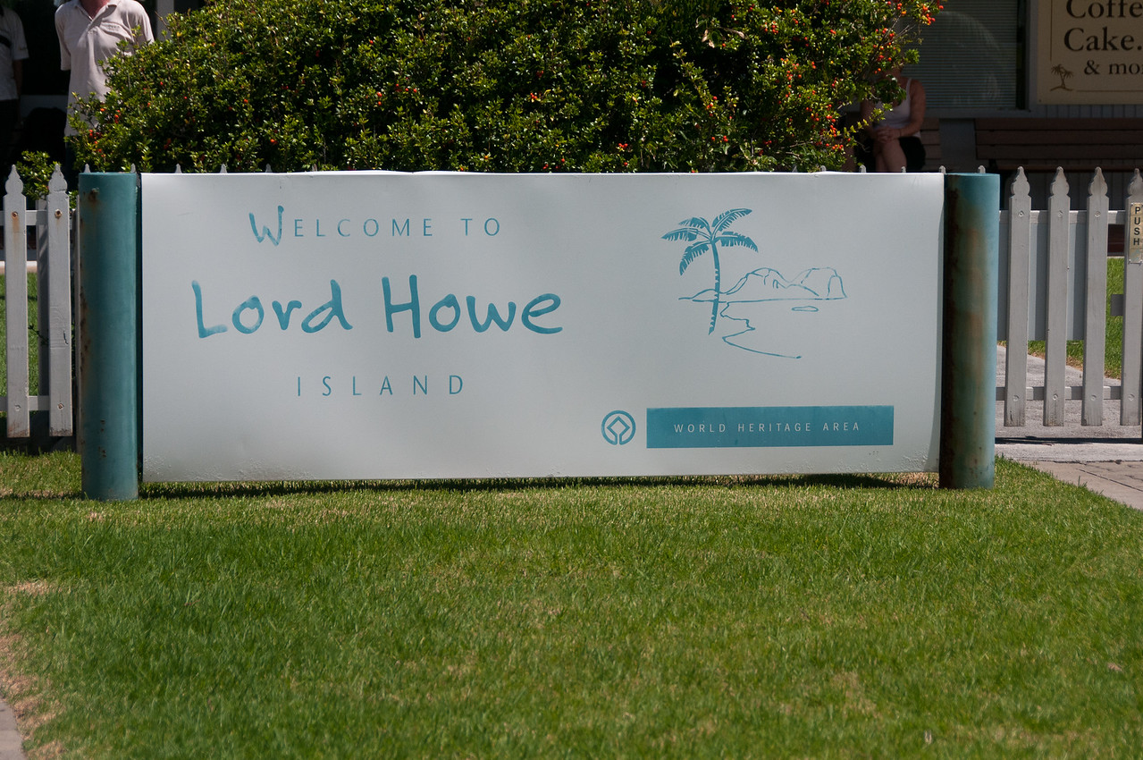 UNESCO sign at Lord Howe Island