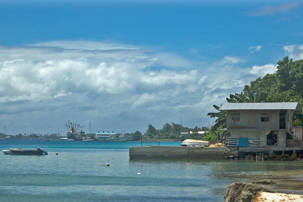 Lagoon in Majuro, Marshall Islands