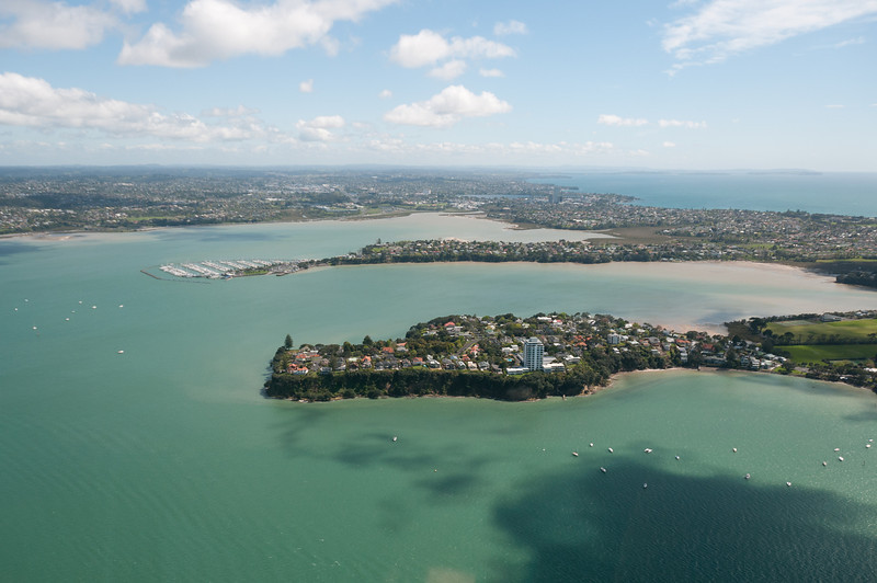 Aerial shot of Auckland, New Zealand