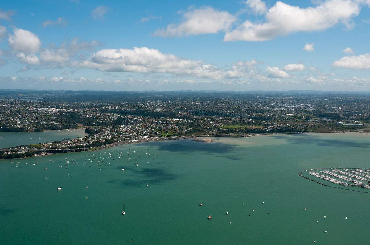Auckland, New Zealand from the Air