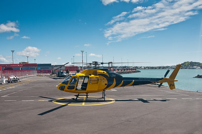 Helicopter in Auckland, New Zealand