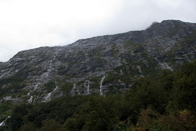 cliff face - Milford Sound