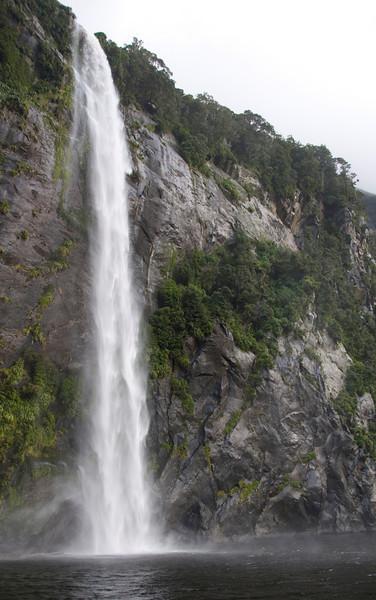 Waterfall Plunge - Milford Sound
