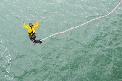 Bungee jumping in Queenstown, New Zealand
