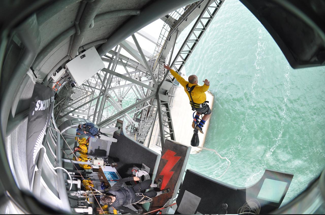 Bungee jumping in Queenstown, New Zealand