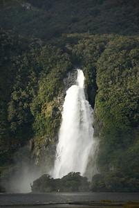 Large Waterfall - Milford Sound