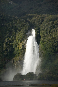 Large Waterfall - Milford Sound