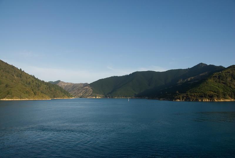 Sailboat in Queen Charolette Sound