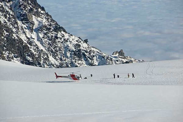 Group on Franz Joseph Glacier - New Zealand
