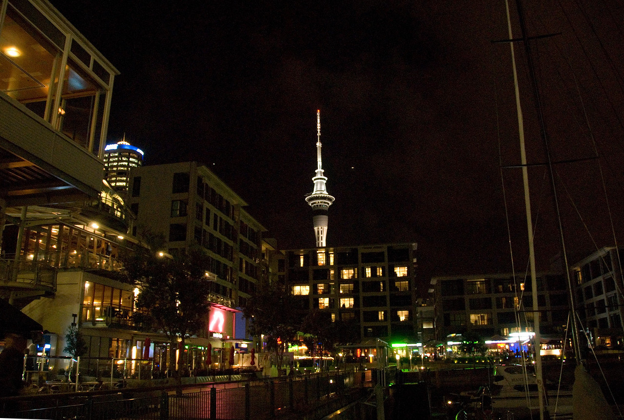 Sky Tower at Night - Auckland