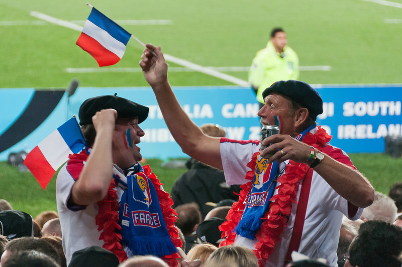 French fans at the 2011 Rugby World Cup Final in New Zealand