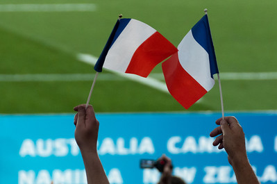French flag at the 2011 Rugby World Cup Final in New Zealand