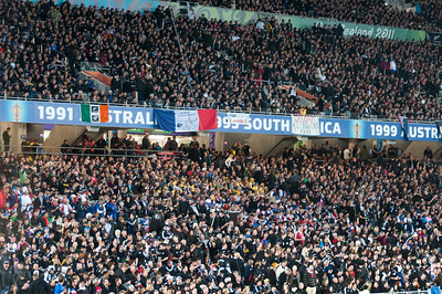 Shot of the crowd at the 2011 Rugby World Cup Final in New Zealand