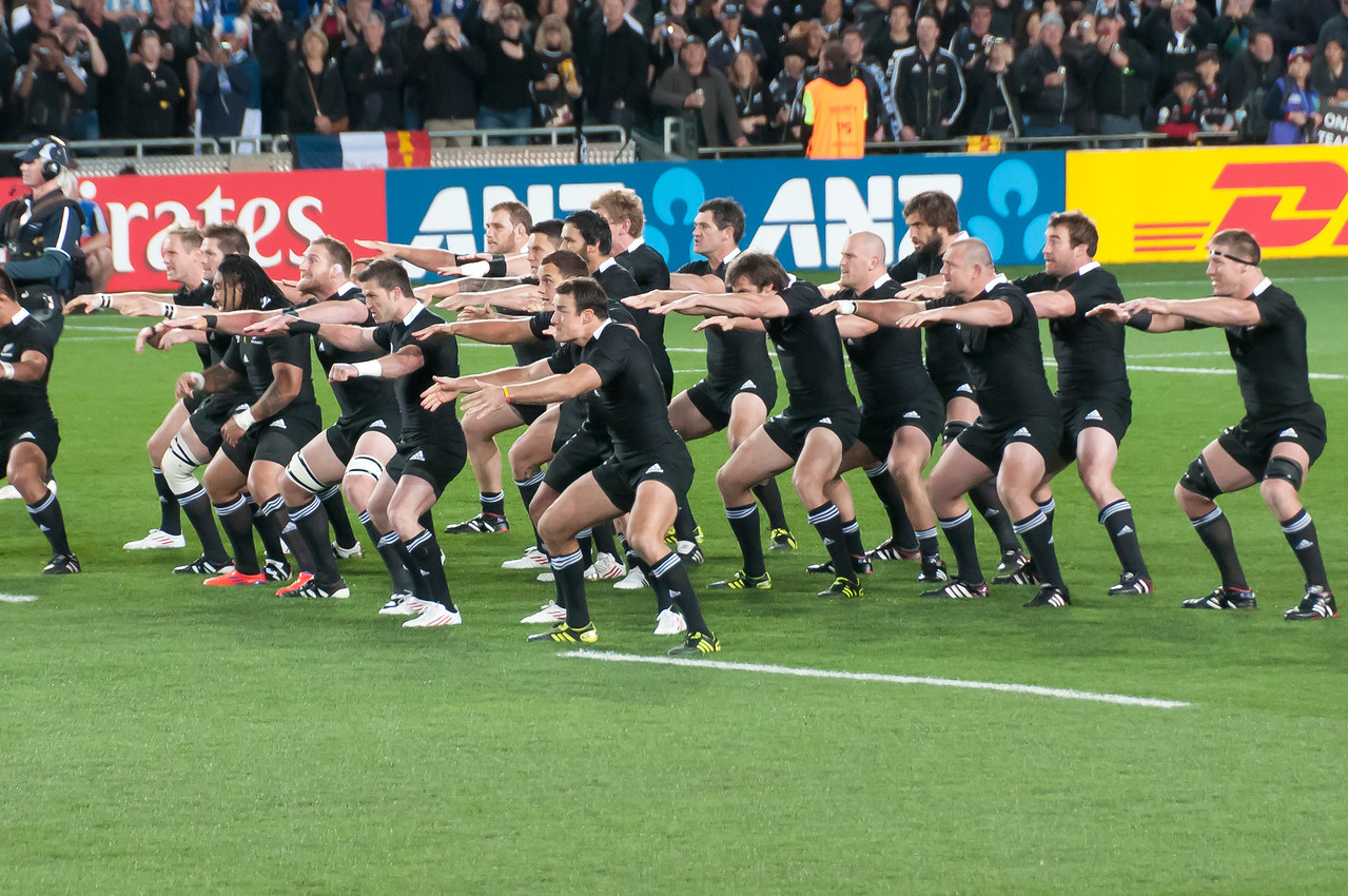 Haka Dance at the 2011 Rugby World Cup Final in New Zealand