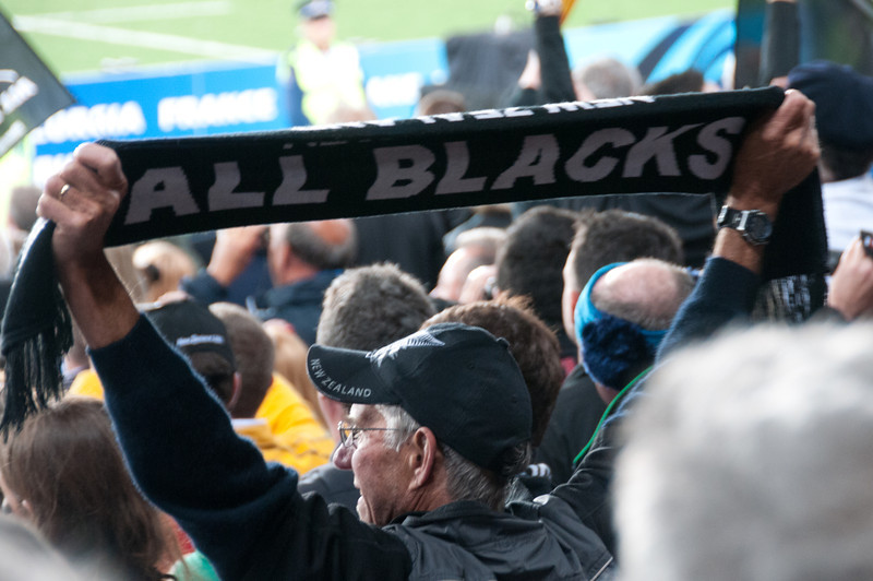 Fans at the 2011 Rugby World Cup Final in New Zealand