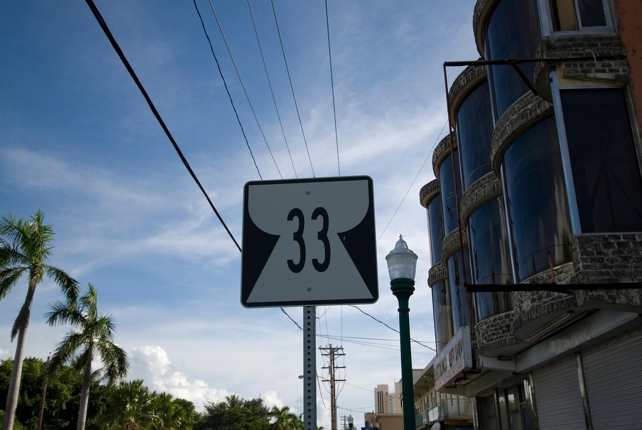 Road sign - Saipan