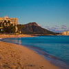 Looking over Waikiki beach outside the resort towards Diamondhead