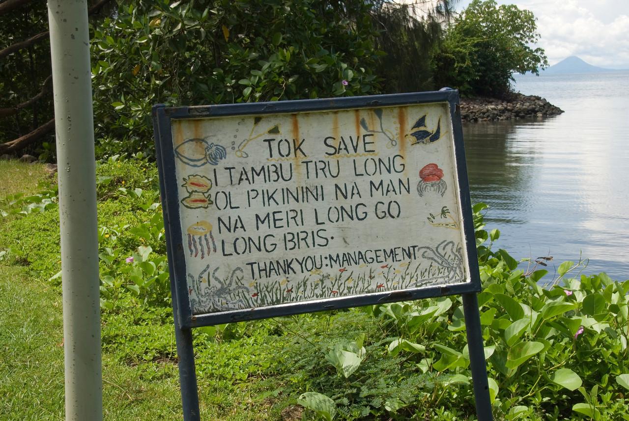 Pidgin Sign - West New Britain, Papua New Guinea