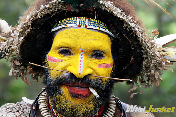 An example of face painting