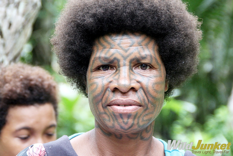 A Korafe woman with facial tattoo