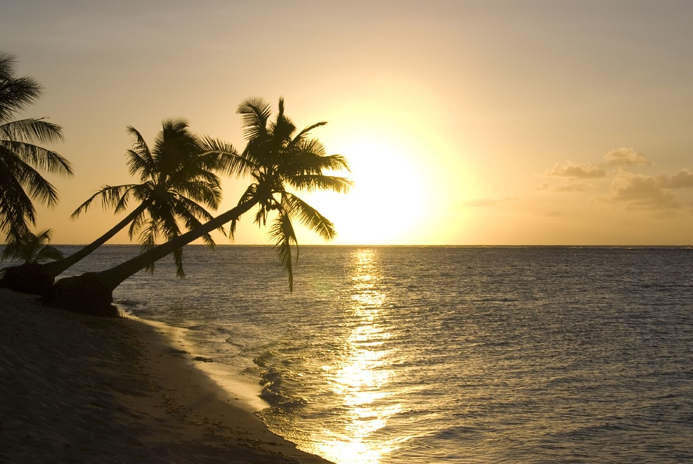 Sunset on the island of Savai'i, Samoa