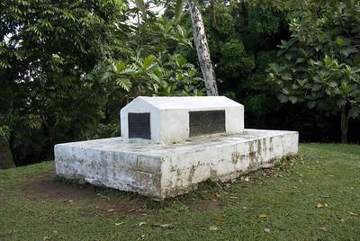 Robert Lewis Stevenson Grave Vailima, Samoa