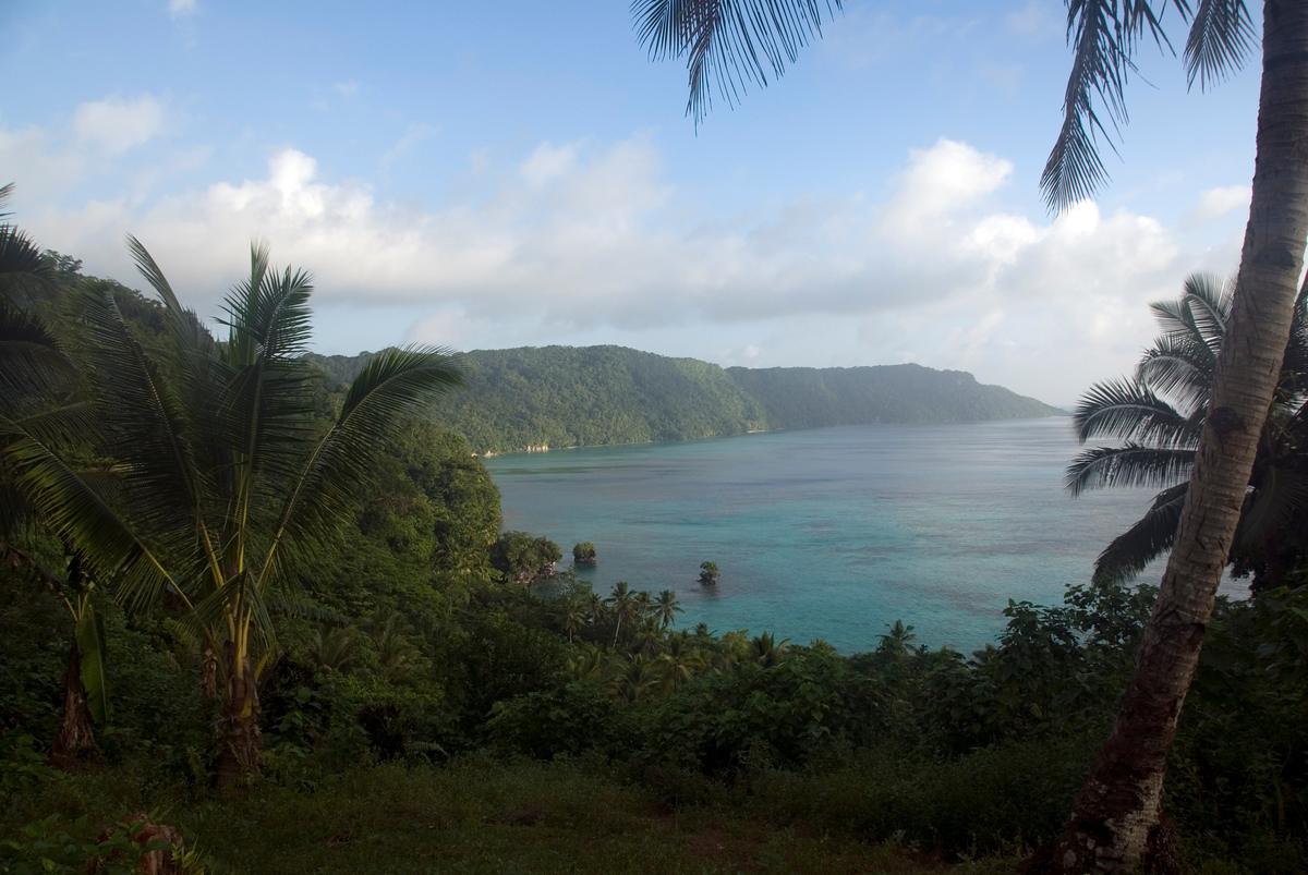 Kunggava Bay, Rennell Island in the Solomon Islands