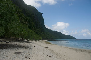 Beach on Rennell Island, Solomon Islands