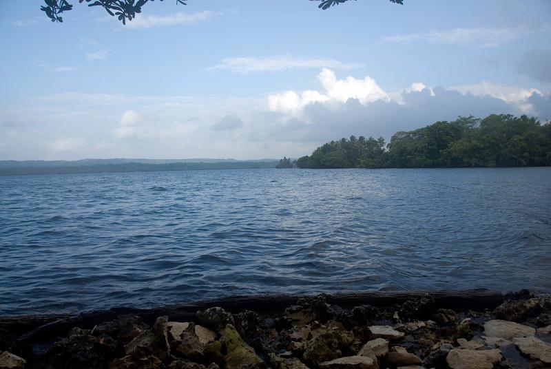 Shore of Lake Tengao, Rennell Island - Solomon Islands