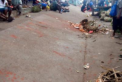 Betel Juice Stains at Market, Honiara - Solomon Islands