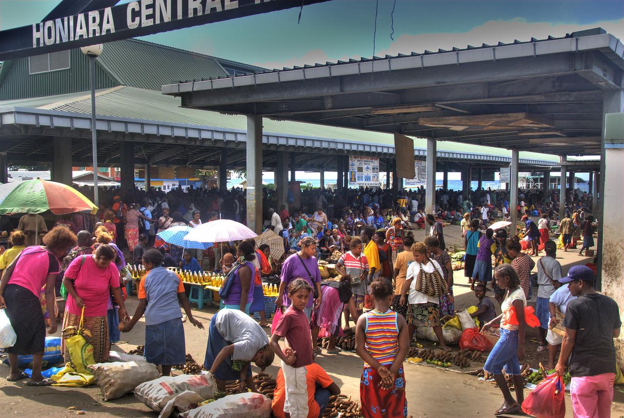 Honiara Market HDR - Solomon Islands