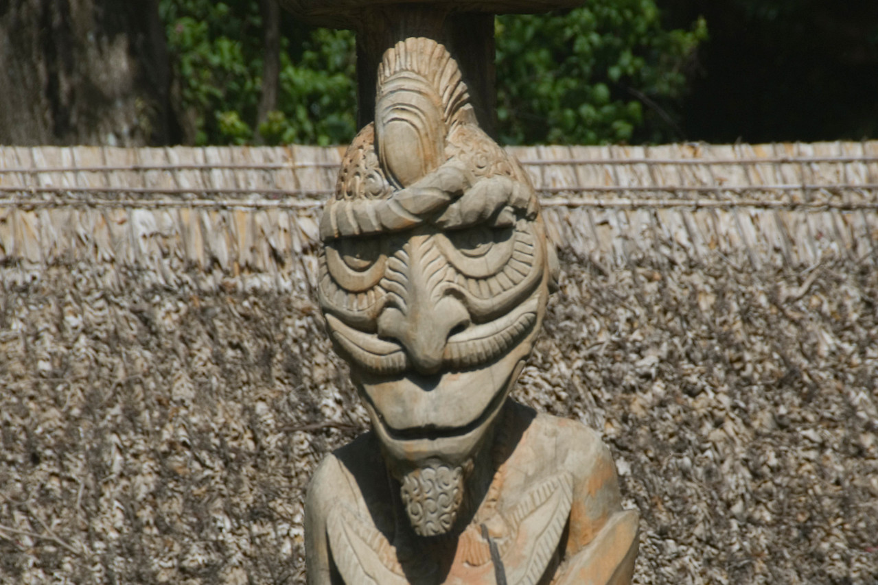 Grinning Head Carving - Solomon Islands