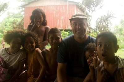 Me and the kids, Rennell Island - Solomon Islands