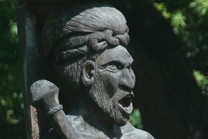 Shouting Warrior Carving - Solomon Islands