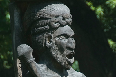 Shouting Warrior Carving - Solomon Islands