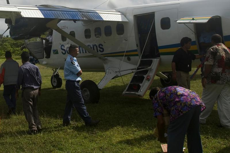 Unloading Plane, Rennell Island - Solomon Islands