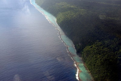 Reef and Cliff, Rennell Island - Solomon Islands