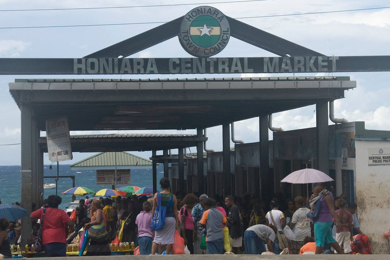 Honiara Market Sign - Solomon Islands