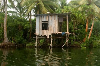 Shack on Lake Te Nggano, Rennell Island - Solomon Islands