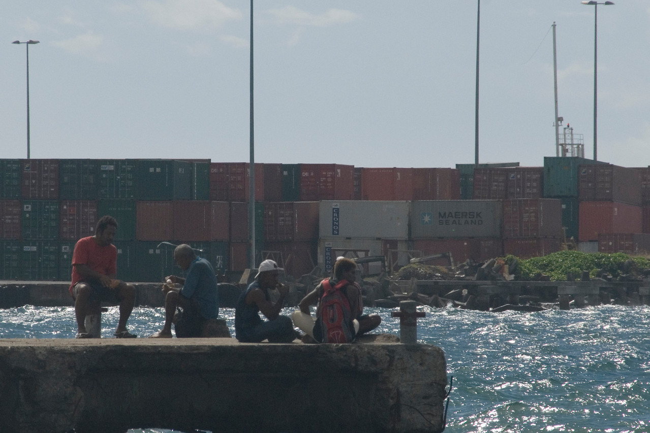Sitting on the Dock of the Bay, Honiara - Solomon Islands
