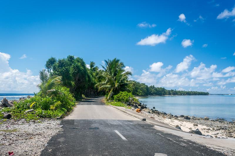 Road on Funafuti Atoll, Tuvalu