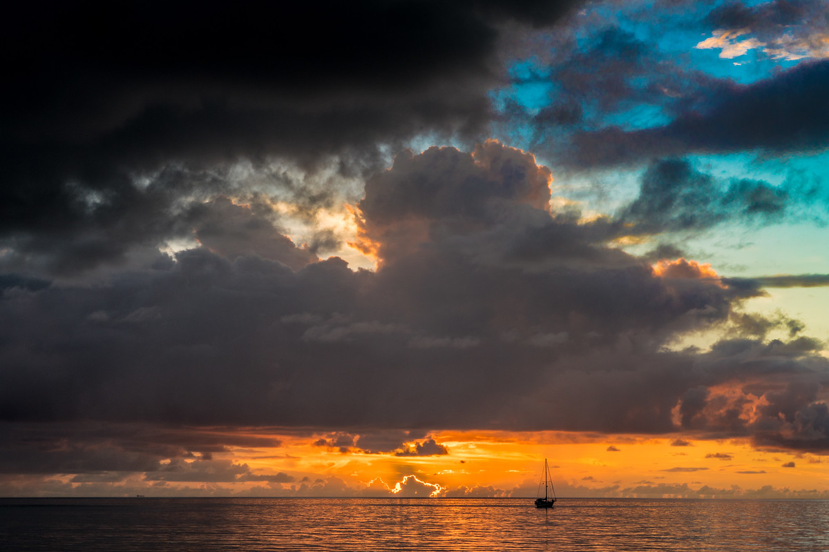 Sunset on Funafuti, Tuvalu.